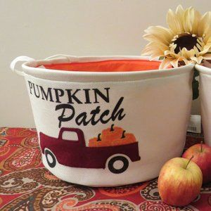 Fall Themed  Collapsible Storage Canvas  Bin